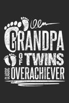 Grandpa of Twins Classic Overachiever: Lustiges Gro�vater-Zitat Notizbuch liniert DIN A5 - 120 Seiten f�r Notizen, Zeichnungen, Formeln - Organizer Sc