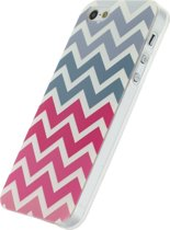 Xccess TPU Case Apple iPhone 5/5S/SE Wave Pink/Grey