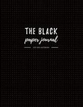 The Black Paper Journal Dot Grid Notebook