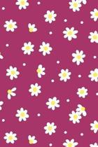 White Daisy Floral Notebook