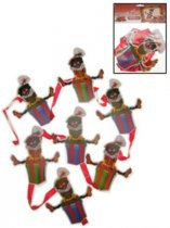 2x Decoratie Zwarte Pietjes mobiel