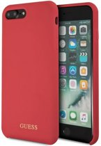 """Guess Silicone HardCase voor Apple iPhone 8 Plus (5.5"""") - Rood"""