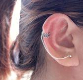 Flower chain Ear cuff oorbel  - 925 Zilver