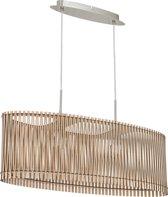 EGLO  Sendero - Hanglamp - 2 Lichts - Nikkel-Mat - Ahorn