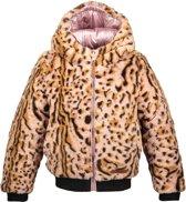 Moodstreet Meisjes Reversible winterjas met capuchon - Licht roze - Maat 104