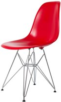 Design eetkamerstoel DD DSR ABS rood kuipstoel