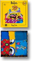 Happy Socks The Beatles Collectors Item, 3-Pack Gift Box, Maat 41-46