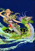 Mermaid and Sea Dragon Blank Greeting Card