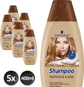 Schwarzkopf -  Repair And Care - 5 x 400 ml - Shampoo - Voordeelverpakking