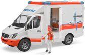 Bruder Mercedes Benz Sprinter Ambulance met chauffeur 1:16 02536