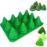 Brick Hunters Siliconen Cake en Muffinvorm - Kerstboompjes
