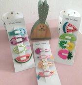 Leuke kinder haarspeldjes in vrolijke designs voor meisjes - 12 stuks - Cadeau - Haarclips - Haaraccessoires - Baby