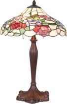 Tafellamp Tiffany ø 40*60 cm 1x E27 / Max 60W Multi | 5LL-5766 | Clayre & Eef