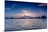 Skyline Wuhan Aluminium 90x60 cm - Foto print op Aluminium (metaal wanddecoratie)