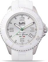 Tutti Milano TMOG001WH- Horloge -  48 mm - Wit - Collectie Oceano Grande