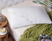 Zwitsers luxe bamboekussen | Hoofdkussen | Bamboe kussen | Antibacterieel & Hypoallergeen | Visco-elastisch & memory foam | Voor een koelere en betere nachtrust | 71x48x14cm, 1.8 KG | Pride Kings®