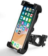 Smartphone fietshouder - GSM fietshouder - UNIVERSEEL - Telefoonhouder motor - Fiets - Scooter - Gemakkelijk monteerbaar - Luxe roterende fietshouder - Stevige smartphone houder - Inclusief Fisheye camera lens