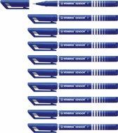STABILO SENSOR Fineliner 0,3 mm - Blauw - Doos 10 stuks