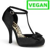 Cutiepie-12 black satin - (EU 40 = US 10) - Pin Up Couture