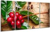 Glasschilderij Keuken | Rood, Groen, Bruin | 160x80cm 4Luik | Foto print op Glas |  F006060