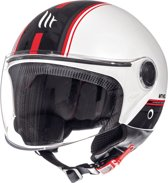 Helm Street Entire wit/rood XL