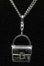 Zilveren Handtas hanger én bedel