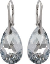 Zilveren Oorbellen met Swarovski Elements Crystal Silver 22MM