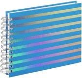 """Hama Spiraalalbum """"Flashy"""", 24x17 cm, 50 witte pagina's, blauw"""