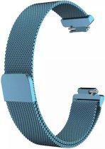 Fitbit Inspire (HR) Luxe Milanees bandje  Licht Blauw / Light Blue  Premium kwaliteit   Maat: M/L   RVS  TrendParts