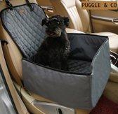 Autostoel Hond of Kat Multifunctioneel - 45 cm x 45 cm - Waterproof - Autotas - Stoelbeschermer - Stoelhoes - Automand - Autozitje - Beschermhoes - Hondenmand - Transportkooi - Autobench - Grijs - NU MET GRATIS HONDENAUTOGORDEL