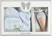 Babystartup - 3-delig setje - Jongentje - Kraamcadeau - Baby - Pinguin - Trui - Broekje - Sokje - Babyshower - Blauw