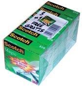 Scotch plakband Magic  Tape formaat 19 mm x 33 m pak van 6 rollen