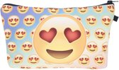 Emoji  etui heart eyes - Perfect als school-/toilet/make-up etui