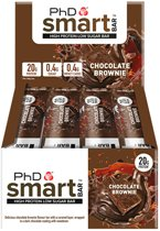 PhD - Smart Bar - Dark Chocolate Brownie (12x64g)