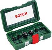 Bosch set HM-houtfrezen - Diameter 6 mm - 6-Delig - geschikt voor alle merken