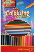 Kleurpotloden - 30 stuks