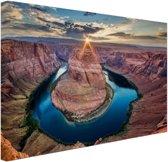 Horseshoe Bend Grand Canyon  Canvas 120x80 cm - Foto print op Canvas schilderij (Wanddecoratie woonkamer / slaapkamer)