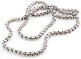 No Evil ® Stalen collier ketting met ronde schakel - unisex - 4 mm - lengte 50 cm