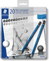 STAEDTLER Mars Lumograph potlood - set 20 st