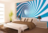 Fotobehang Design | Blauw, Wit | 208x146cm