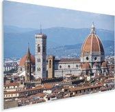 Panorama van de Dom van Florence Plexiglas 180x120 cm - Foto print op Glas (Plexiglas wanddecoratie) XXL / Groot formaat!