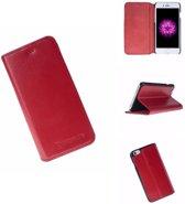 Echt Leer hoesje - Apple iPhone 6 / 6s - Lederen Barchello Case Red - Book Case (Rood)