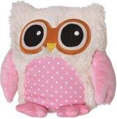 Owl pink warmtekussen - roze uil Kleur: roze