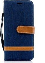 Denim Book Case Samsung Galaxy J6 (2018) Hoesje - Blauw
