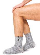 SOXS® Wollen Enkelsokken Heren – Winter Sokken - Maat 42/46 - Grijs