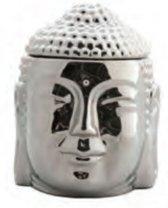 Scentchips brander buddha kop glimmend zilver