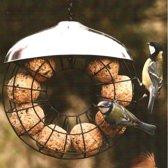 Mezenbollenring - Vogelvoederhuisje - Grijs - 23.5 cm x 23.5 cm - 2 stuks