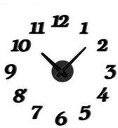 United Entertainment - DIY Clock - Klok - Rond - Kunststof - Zwart