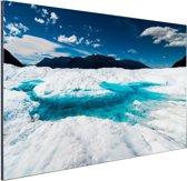 FotoCadeau.nl - Gletsjer met meer Aluminium 90x60 cm - Foto print op Aluminium (metaal wanddecoratie)