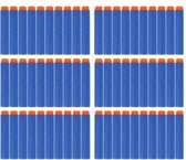 50 Pijlen/Darts/Kogels Geschikt Voor NERF N-Strike Elite Speelgoedblasters - Met Gratis Schietschijf - Kleur Blauw